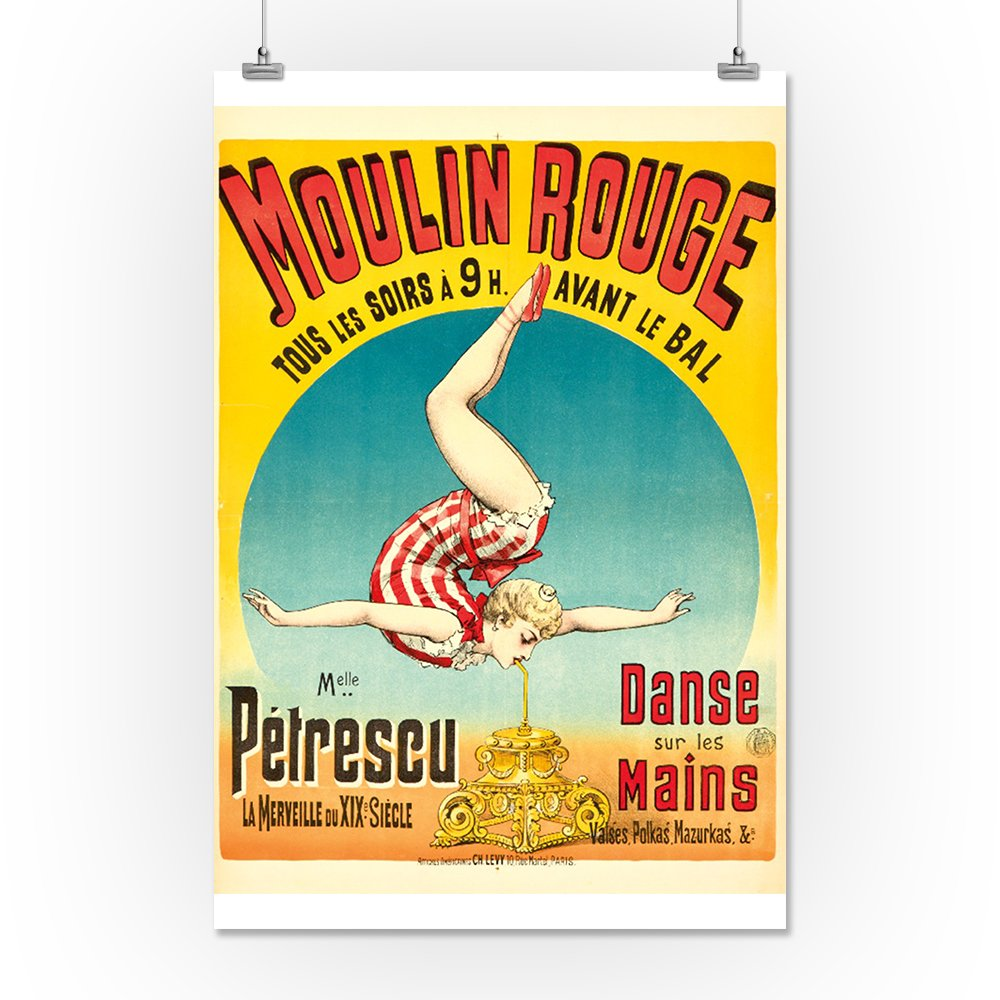 Amazon.com: Moulin Rouge - Melle Petrescu Vintage Poster (artist:) France c. 1889 (12x18 Art Print, Wall Decor Travel Poster): Posters & Prints