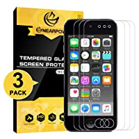 [3 Pack] iPod touch 6th / 5th Gen Screen Protector, Nearpow 2015 Released Tempered Glass Screen Protector with [9H Hardness] [Crystal Clear] [Easy Bubble-Free Installation] [Scratch Resist]
