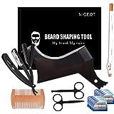 Beard Shaper - Beard Shaping Tools - Include Beard Template Guide, Professional Straight Edge Razor, 10 Count of Double…