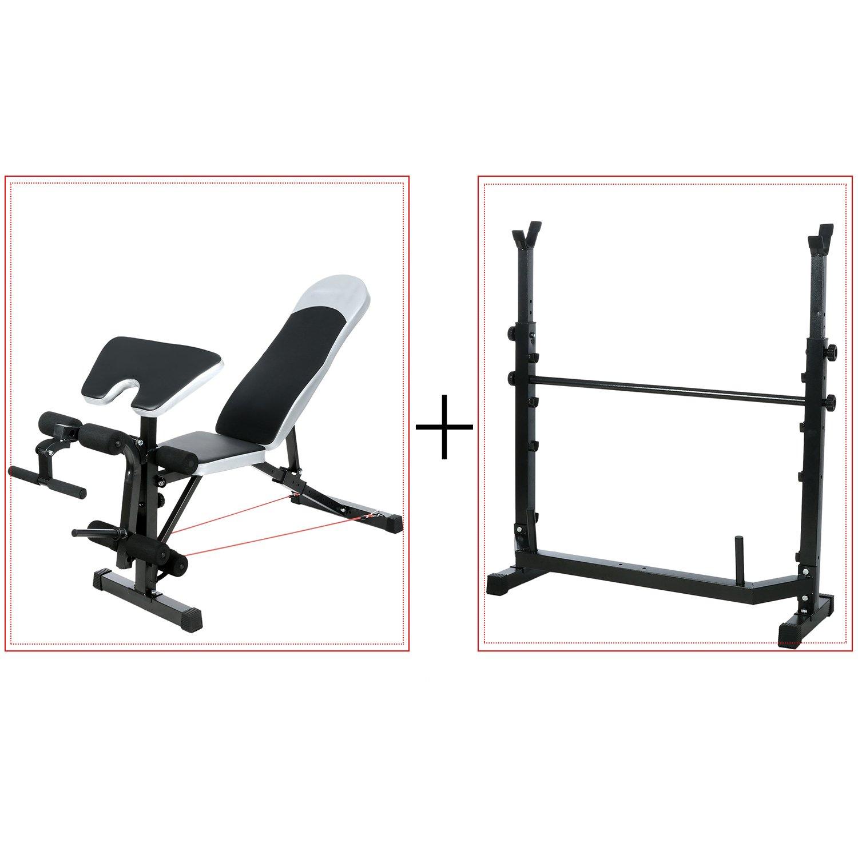 Ancheer ajustable banco de pesas con púlpito/pierna desarrollador, nos Stock: Amazon.es: Deportes y aire libre