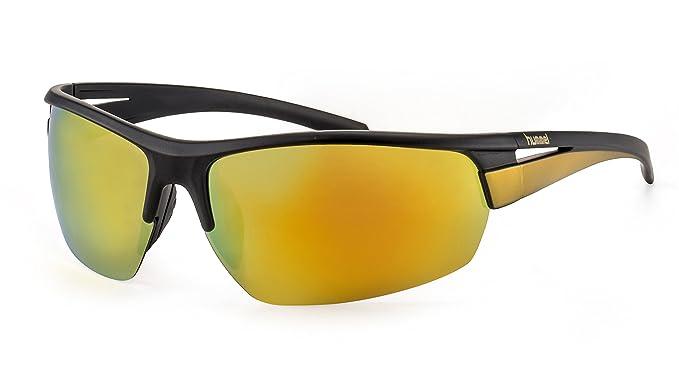 Polarisierte Sportbrille von hummelLeichte Herren Sonnenbrille mit verspiegelten Gläsern