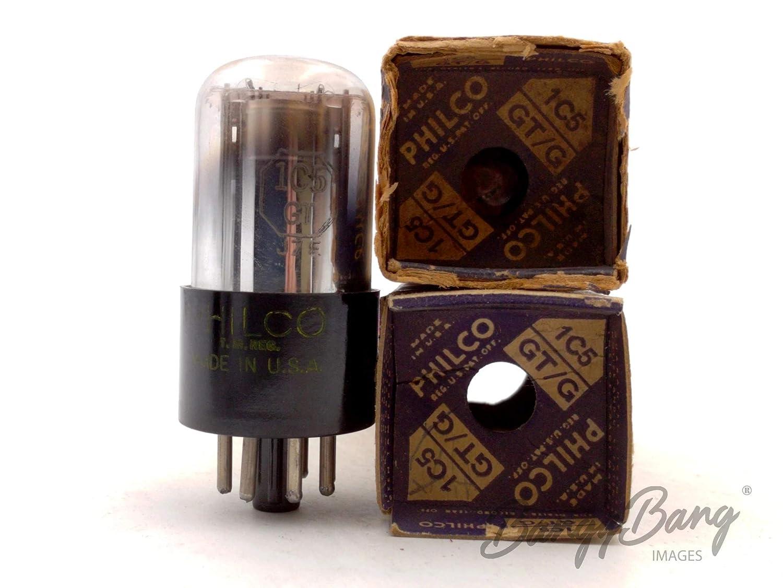 2 Vintage Philco 1C5GT//VT125 Power Amplifier Pentode Tube Valve BangyBang Tubes