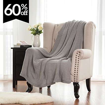 Ordinaire Bedsure Knitted Throw Blanket For Sofa And Couch, Lightweight, Soft U0026 Cozy  Knit Throws