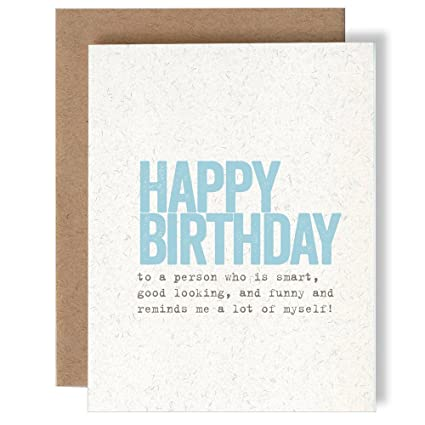 Amazon happy birthday to a person who reminds me a lot of happy birthday to a person who reminds me a lot of myself greeting card m4hsunfo