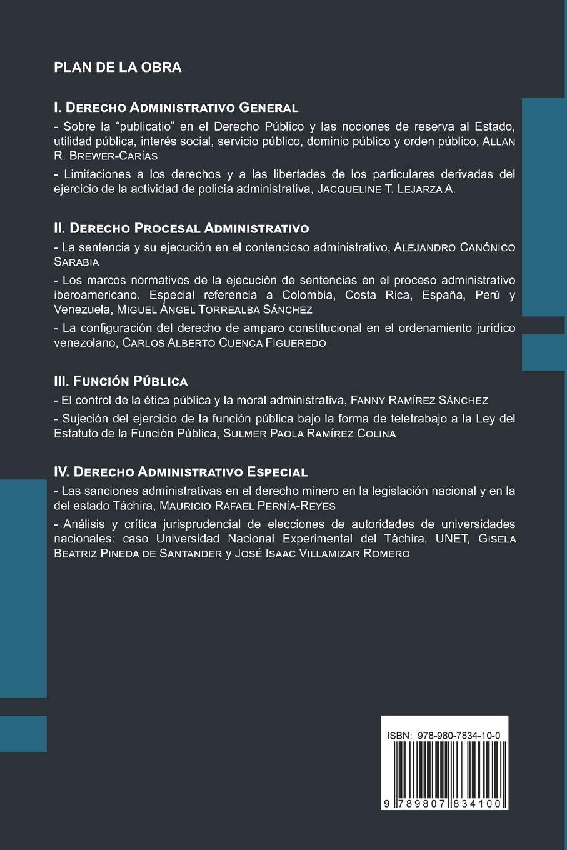Estudios de Derecho Administrativo: Libro homenaje a la Especialización en Derecho Administrativo de la Universidad Católica del Táchira Colección Colectivos: Amazon.es: Pernía-Reyes, Mauricio: Libros