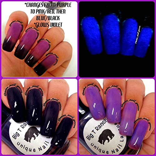 Amazon.com: Color Changing Thermal Nail Polish - Ombre Purple/Pink ...