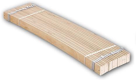 Stella Trading Enrollable de Listones de muelles estables para Superficie de Descanso de 140 x 200 cm. Somier de Madera de Abedul laminada, 140 x 1 x ...