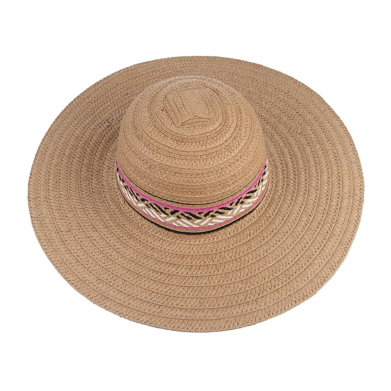 La Vogue-Cappello Spiaggia con Testa Larga Donna Cappello di Paglia Misura  58cm Cachi: Amazon.it: Abbigliamento