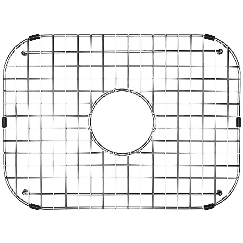 Serene Valley Sink Grid 18-1/8'' L x 13-3/8'' W, Centered Drain with Corner Radius 3-1/2'', NDG1813C