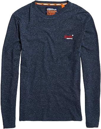 Superdry Men/'s Orange Label Vintage Logo T-Shirt Blue