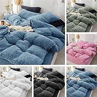 Super Warm Teddy Bear Fleece Quilt Doona Duvet Cover Set All Size Winter Thermal (Black, King Single)