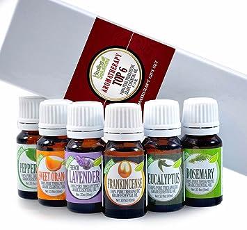 Amazon.com: Aromatherapy Top 6 - 100% Pure Therapeutic Grade Basic ...