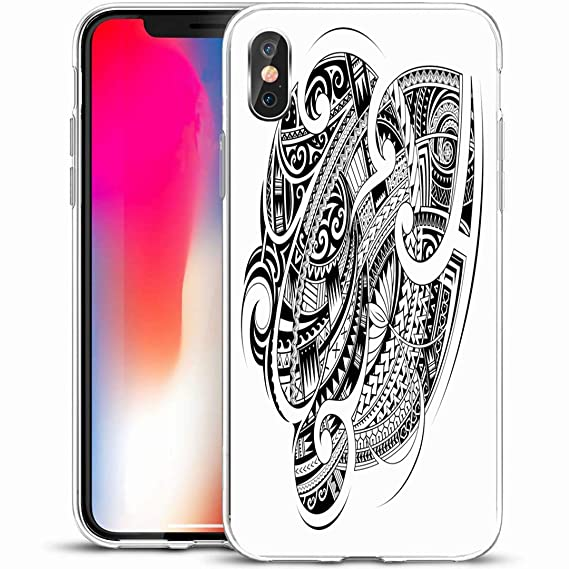 "3fa20a562 Ahawoso Custom Phone Case Cover for iPhone X/XS 5.8"",Maori Polynesian  Ethnic"