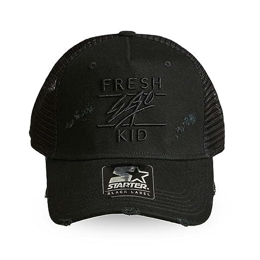 69465604625 Fresh Ego Kid | S056 Ripped Distressed Trucker Cap - Black One Size Black:  Amazon.co.uk: Clothing