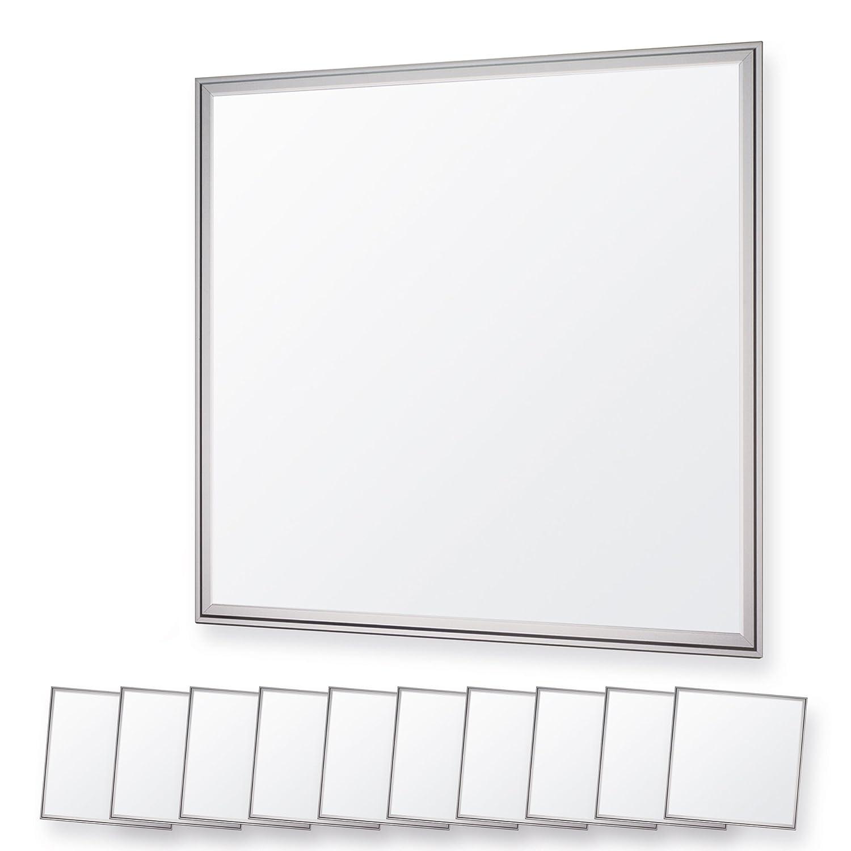 LEDVero 5er Set 62x62cm Ultraslim LED Panel 36W, 3000lm, 6000K Deckenleuchte mit Befestigungsclips und EMV2016 Trafo -Kaltweiß - Energieklasse A+ LDLM085