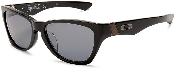 Oakley Jupiter LX Solid Negro w/Gris - Gafas de sol polarizadas (03-