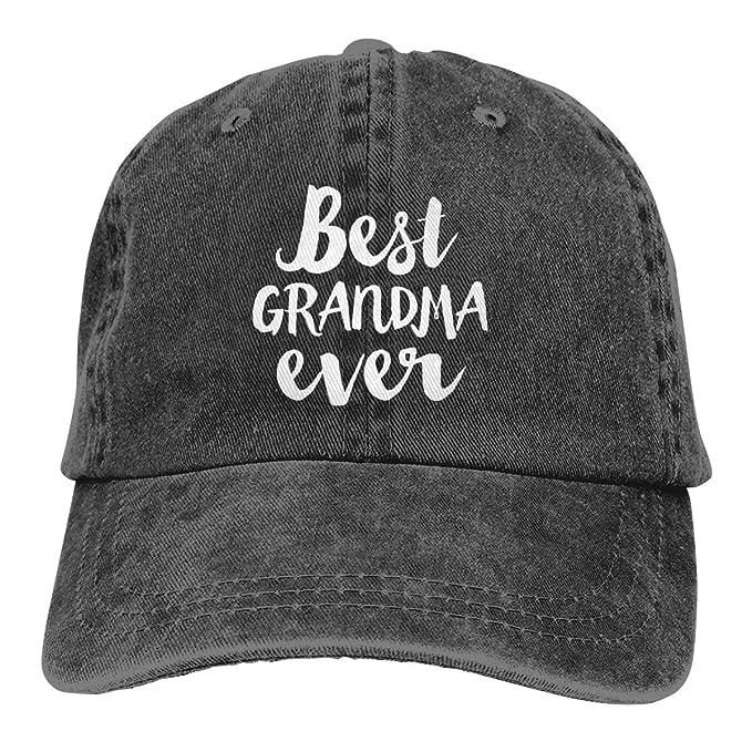 Best Grandma Ever Denim Hat Adjustable Mens Vintage Baseball Hats at ... eab829edf8b