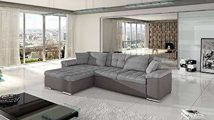 GIULIA European Sectional Sleeper Pull Out Sofa Bed Water Repellent Fabric  Modern Design (63Wx110Lx32H,