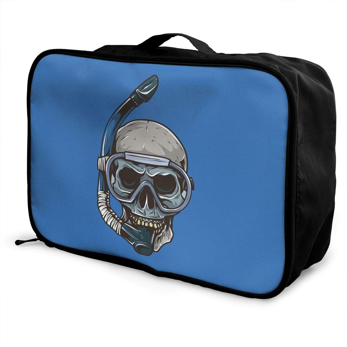 Travel Luggage Duffle Bag Lightweight Portable Handbag Diving Skull Large Capacity Waterproof Foldable Storage Tote