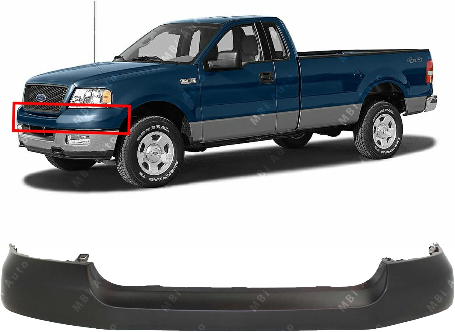 MBI AUTO - Primered, Front Bumper Upper Valance Cover Cap for 2006 2007 2008 Ford F150 Pickup 06-08, FO1000616