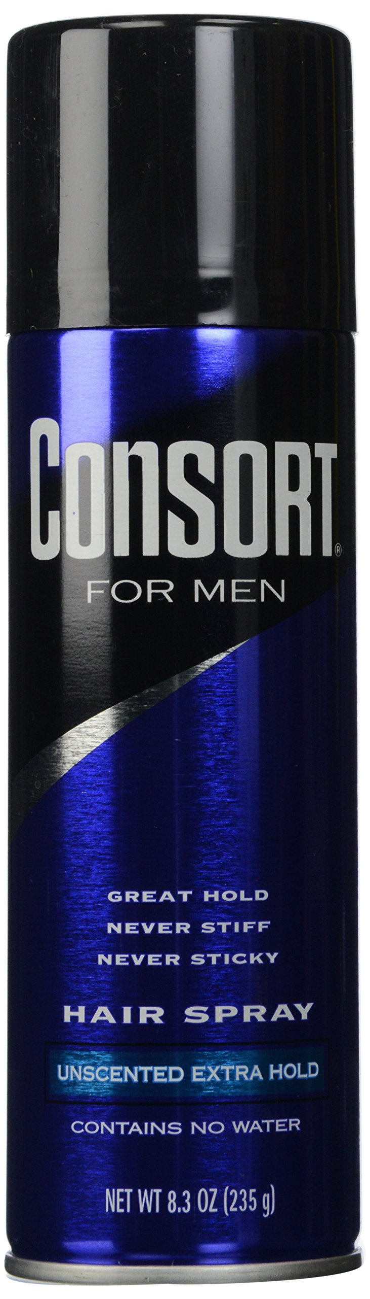 Consort For Men Hair Spray Aerosol Unscented Extra Hold 8.30 oz.