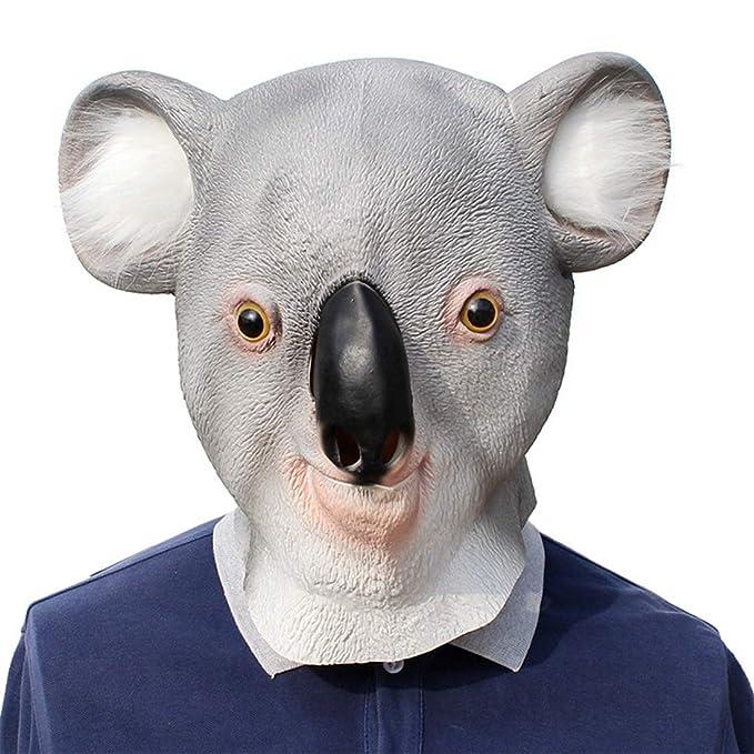 ZEQIYUE Máscara de látex de Navidad del Partido Styling Koala Bola ...