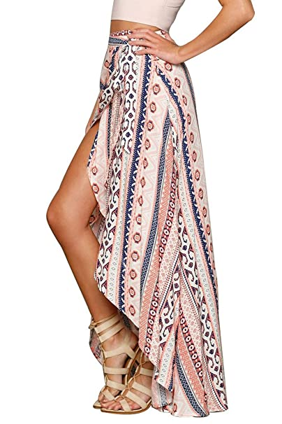 9650b8d90d1 HOTAPEI Womens Summer Swimsuit Maxi Skirt Wrapped Beach Cover up Dress