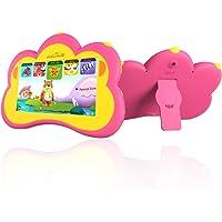 """B.B.PAW Tablet para Niños, 7"""" Español&Inglés Protección para los Ojos Educación Integral del Cerebro Regalos Tablet para Niños Más de 90+ Aplicaciones de Aprendizaje y Capacitación Precargados-Rosa"""