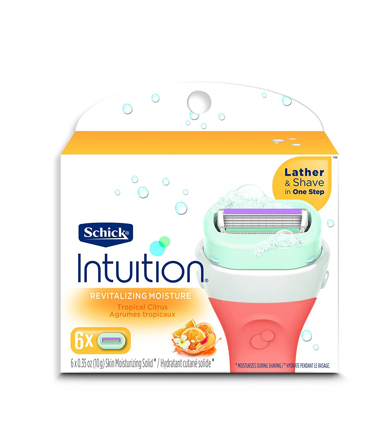 Schick Intuition Plus Advanced Moisture, 6-Count Refill 841058040422