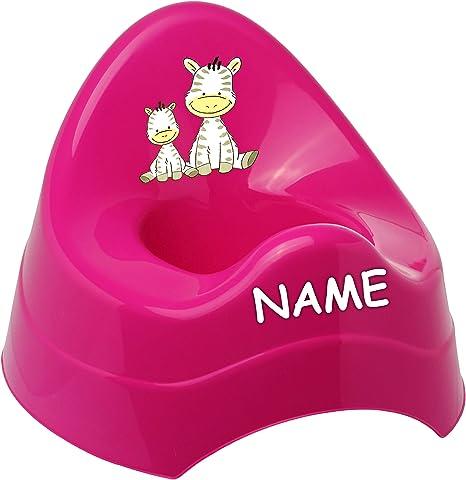 Babyt/öpfchen // Kindertopf // .. Bieco Teddy /_ inkl Spritzschutz Name Teddyb/är mit gro/ßer Lehne pink /_ Tiere rosa alles-meine.de GmbH T/öpfchen // Nachttopf // Babytopf