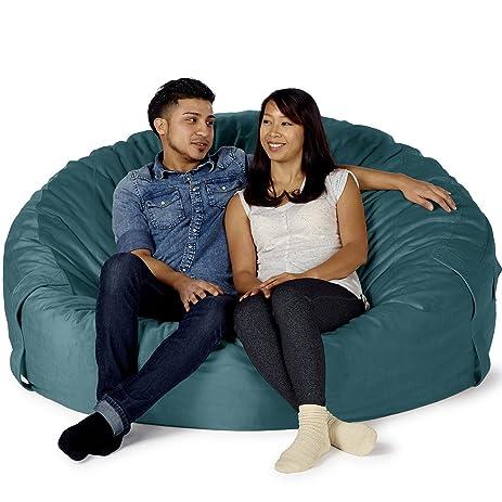 Take Ten Giant 60u201d Luxury Bean Bag Chair U2013 Multiple Colors / Seats 2 Adults