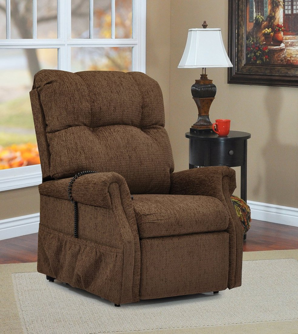 d3c4834d742ca Amazon.com: Med Lift Dawson Two-Way Reclining Lift Chair - Brown: Kitchen &  Dining