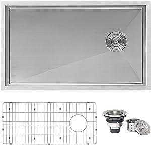 Ruvati 32-inch Offset Drain Reversible Kitchen Sink Undermount 16 Gauge Stainless Steel - RVH7490