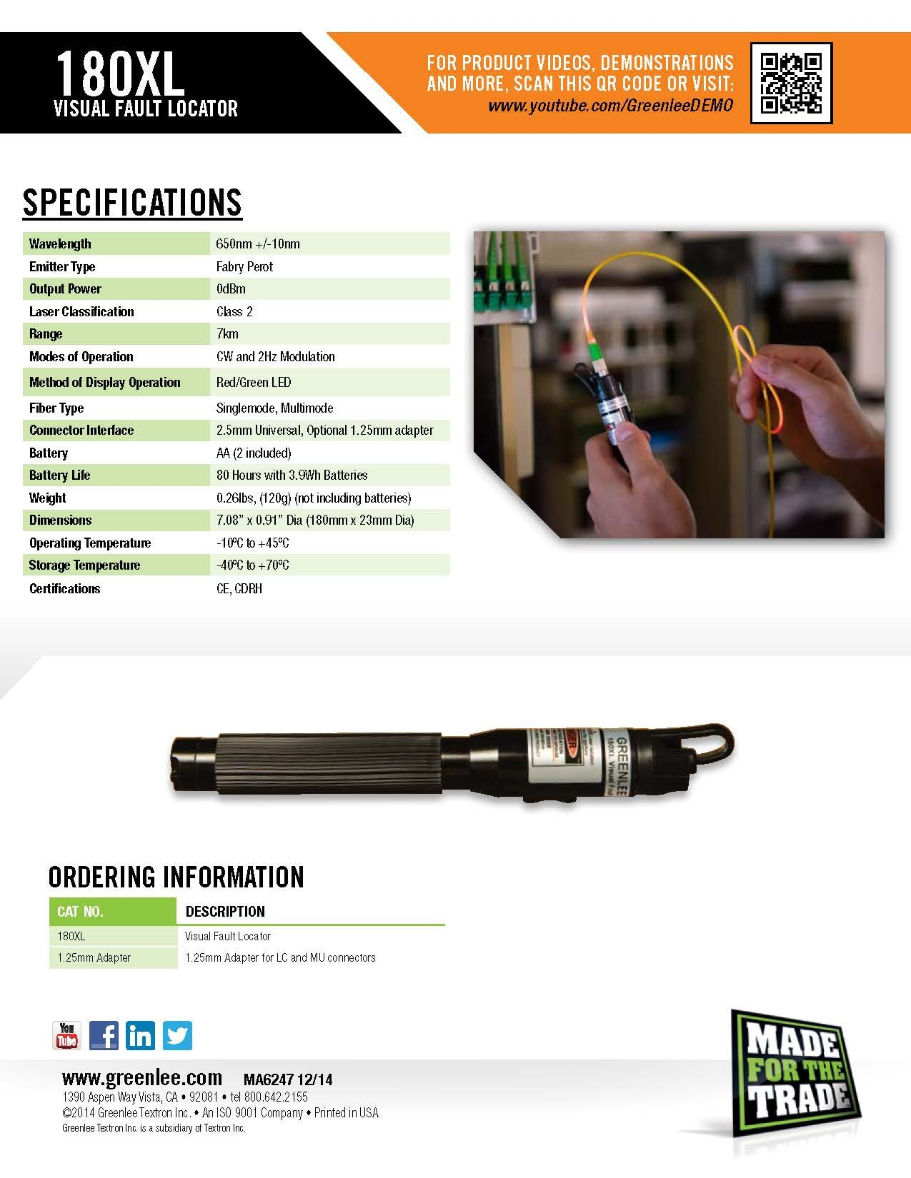 Greenlee 180XL Visual Fault Locator by Greenlee (Image #6)