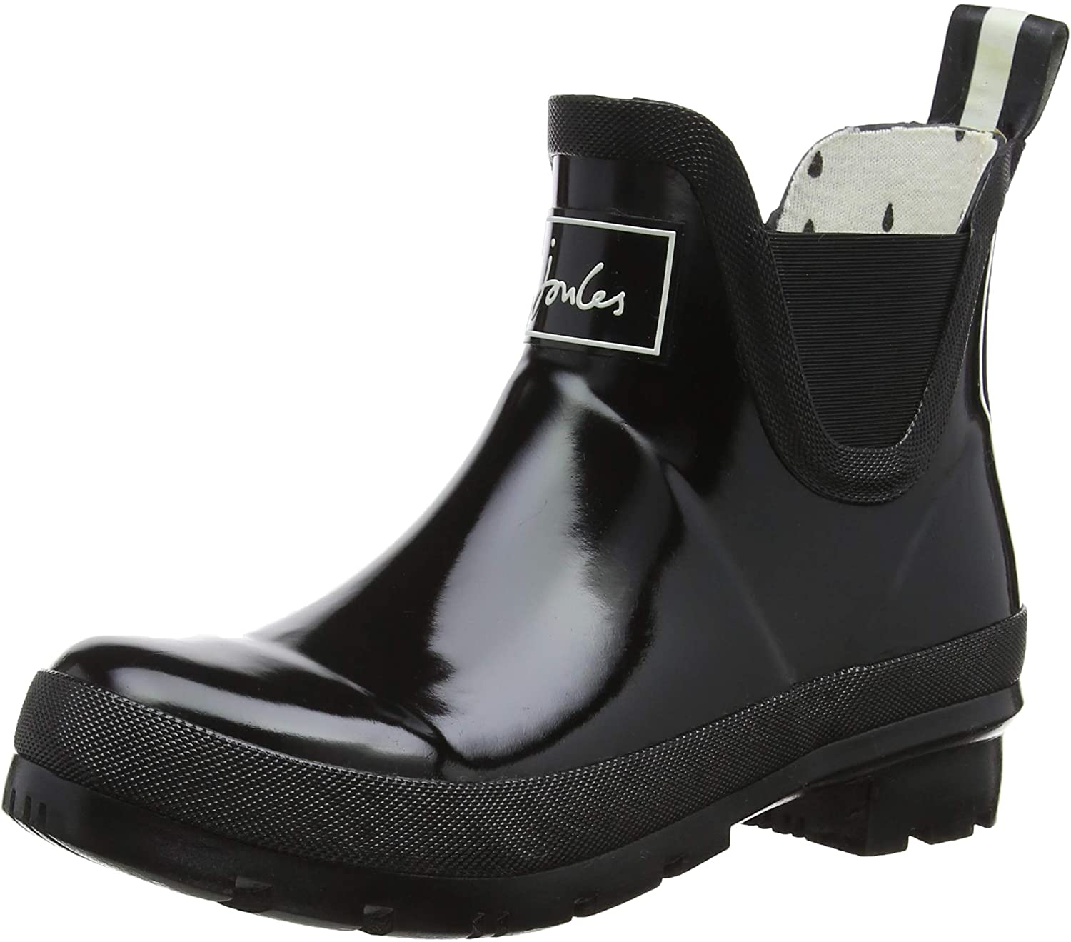 Joules Womens Wellibob Ankle-High Rubber Rain Boot