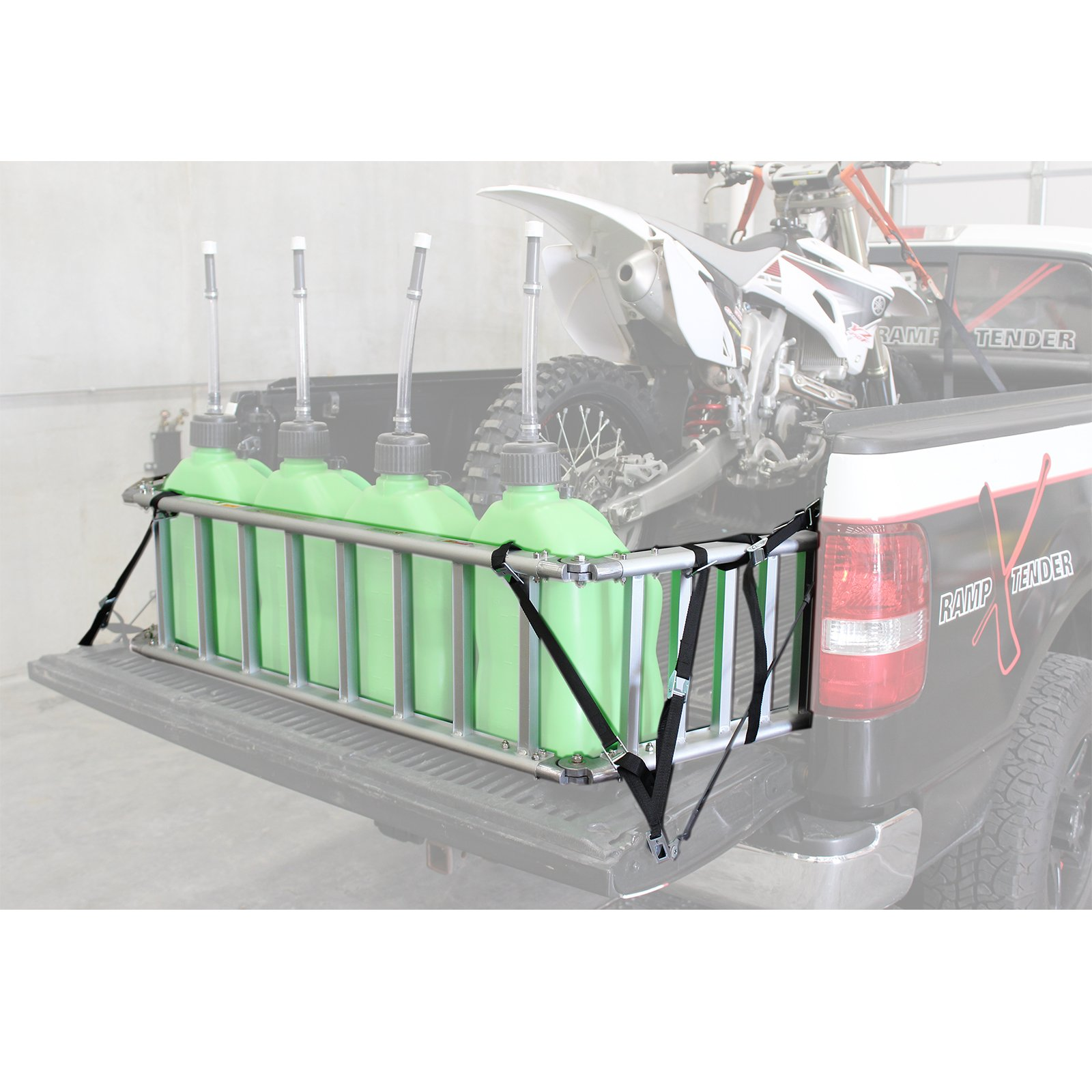 Extreme Max (NR002S-SLVR) Motorcycle RampXtender Aluminum Ramp Set and Tailgate Extender Combo by Extreme Max (Image #11)
