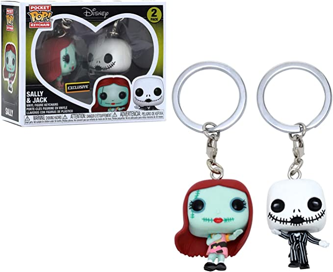 Funko Pocket POP! Keychain Disney Sally & Jack [2 Pack] Exclusive ...