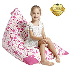 AUBLISS Stuffed Animal Storage Bean Bag Chair - Plush Animal Toy Organizer for Kids, Girls and Children | Extra Large | 23 Inch Long YKK Zipper | Premium Cotton Canvas