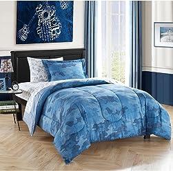 Joe Boxer Blue Camo Print Microfiber Comforter (Full)