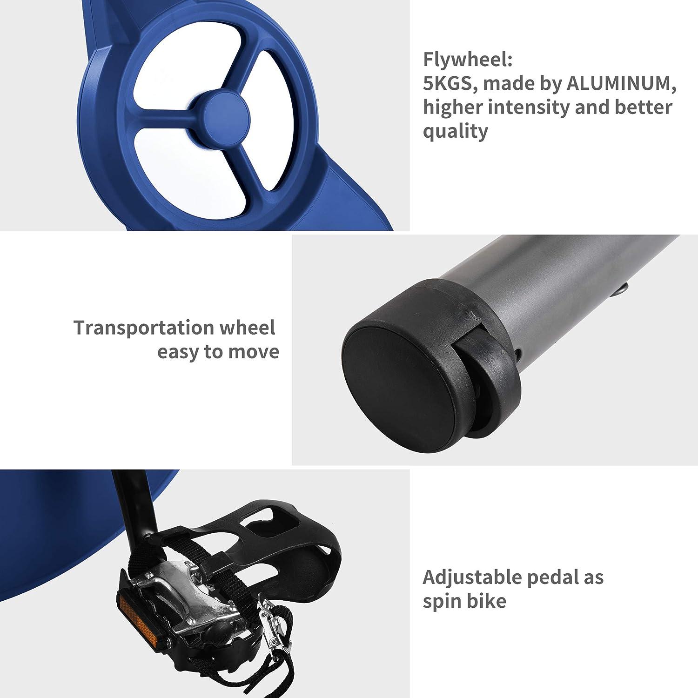 Ultrasport F-Bike PRO Ergómetro, Professional Bicicleta Estática, Aparato Doméstico, Bicicleta Fitness con consola y sensores de pulso en manillar, ...