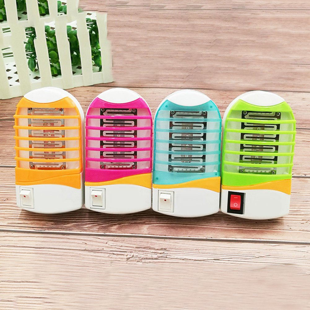 Random Color Mosquito Killer YanQxIzbiu LED Night Light Bug Insect Fly Killer Mosquito Repellent Trap Lamp US Plug