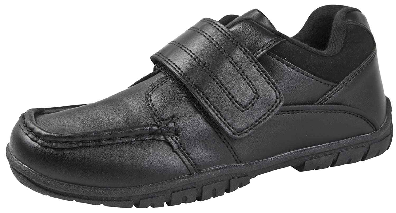 783e44abe435 LD Outlet NEW KIDS BOYS BLACK FAUX LEATHER FORMAL LOAFERS SCHOOL SHOES  VELCRO SIZE 2: Amazon.co.uk: Shoes & Bags