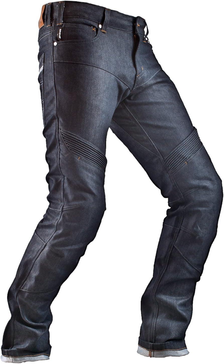 Shima Gravity Cordura Classic Protektoren Herren Gusset Motorrad Jeans Blue Größe 34 Long Blau 34 Lang Gravity 34l Auto