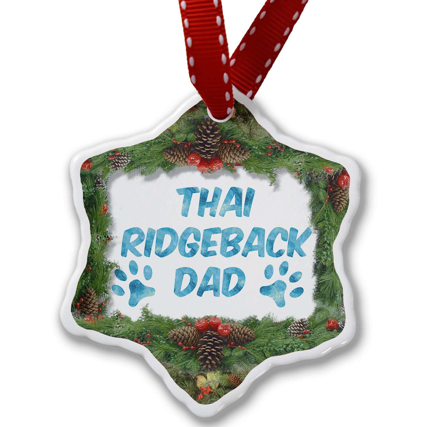 Christmas Ornament Dog & Cat Dad Thai Ridgeback - Neonblond by NEONBLOND