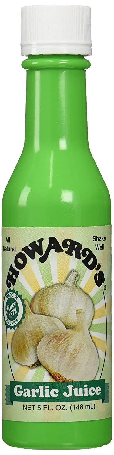 HOWARD'S Garlic Seasoning Bottled Juice | Gluten-Free, All Natural, Shelf Stable| 5 Ounce