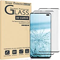 (2 Pack) Galaxy S10 Plus Screen Protector 3D Curved Glass, [Case Friendly] [Bubble Free] Ultra Thin HD Clear 9H Hardness Anti-Scratch Crystal Clear Screen Protector for Galaxy S10 Plus (NOT S10)