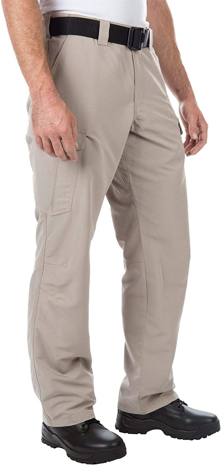 5.11 Tactical Men's Fast-Tac Cargo Pants, Water-Resistant Finish, Dual Magazine Pockets, Style 74439