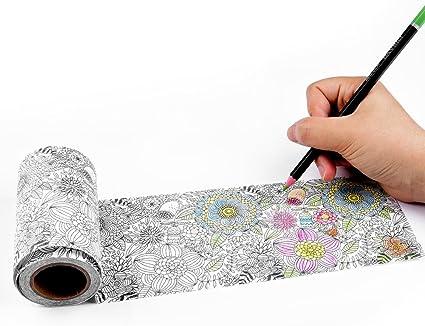 Nastro Washi per colorare fiori 50 mm x 5 m