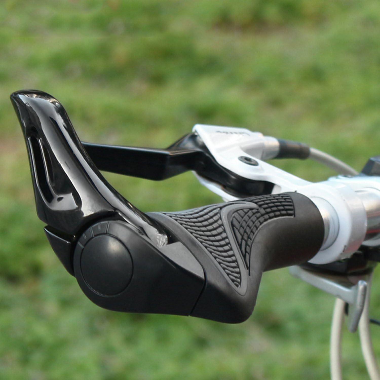 Pu/ños Bicicleta Ergonomicos con M/áscara Wafly 2PCS Pu/ños para Bicicleta de Monta/ña Con Cuernos Antideslizante Aluminio Caucho Bike Agarre para Bicicleta Moto Monta/ña MTB BMX Plegable Bicicleta 22mm