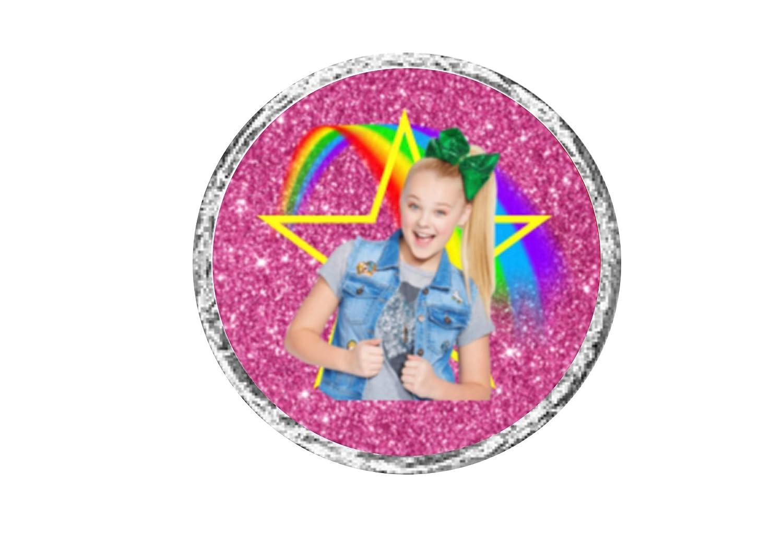 108 Jojo siwa birthday party hershey kiss labels stickers for birthday decorations